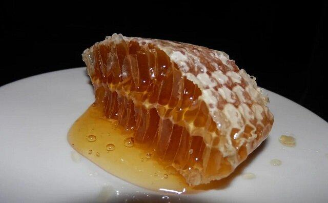 Czy można połykać wosk podczas jedzenia plastra miodu?