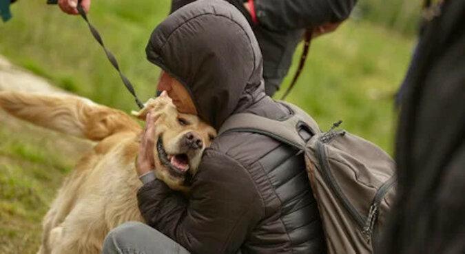 Pies ze schroniska rzucił się, by uścisnąć przypadkowego odwiedzającego, po czym ten już nie mógł wrócić do domu sam