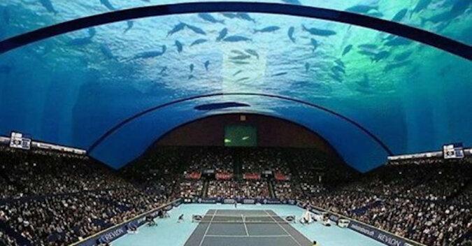 Pierwszy na świecie podwodny kort tenisowy