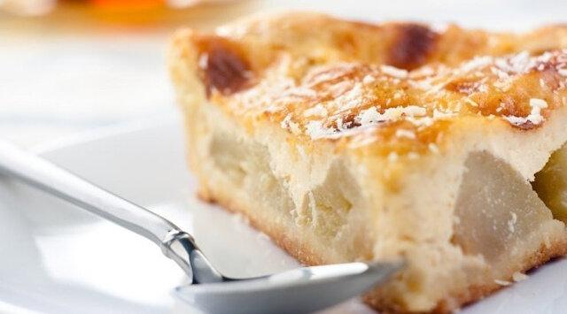 Ciasto twarogowe z jabłkami. Pycha