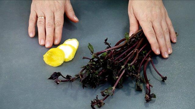 Teraz nie wyrzucam skrawków cytryny i łodyg bazylii: pokazuję, co z nimi robię