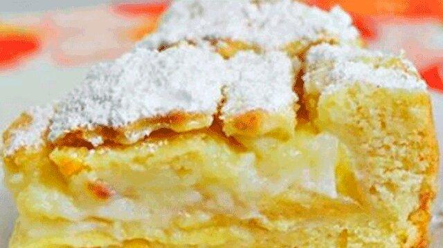 Kremowe ciasto z jabłkami. Niesamowicie smaczne i aromatyczne