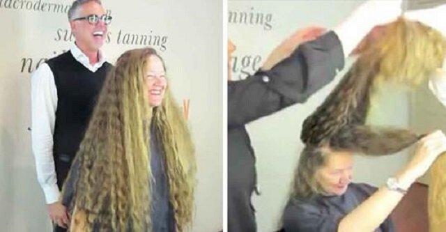 """Metamorfoza prawdziwej """"Roszpunki"""" – ścięła ponad metr włosów. Zobacz jak się zmieniła i czy jej się podoba"""