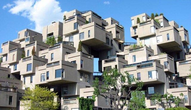 Zobacz jak w tym dziwnym domu z modułów betonowych wyglądają mieszkania