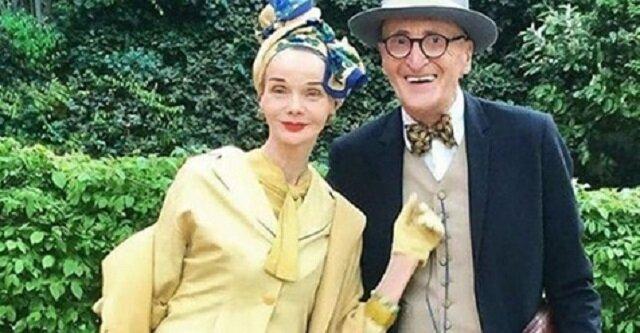 Starsza para z Berlina błysnęła modnymi kreacjami