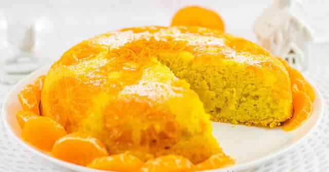 """Ciasto mandarynkowe """"Czułość"""". Ciasto cytrusowe z mandarynkami na bazie semoliny"""