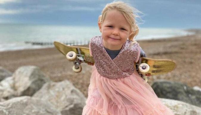 4-letnia dziewczyna, która jeździ na deskorolce: młoda Brytyjka podbiła sieci społecznościowe swoimi sportowymi umiejętnościami