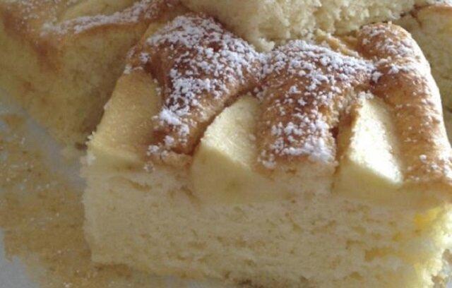Ciasto jogurtowe z jabłkami. Szybkie w przygotowaniu i pyszne