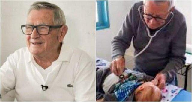92-letni lekarz pediatra bezpłatnie leczy dzieci z biednych rodzin. Zobacz