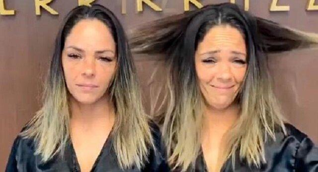 Dziewczyna przez rok nie chodziła do fryzjera, ale potem zdecydowała się odwiedzić salon fryzjerski