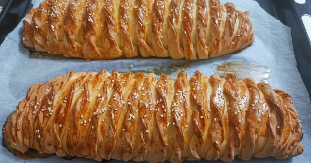 Ciasto z kurczakiem i ziemniakami na kefirze