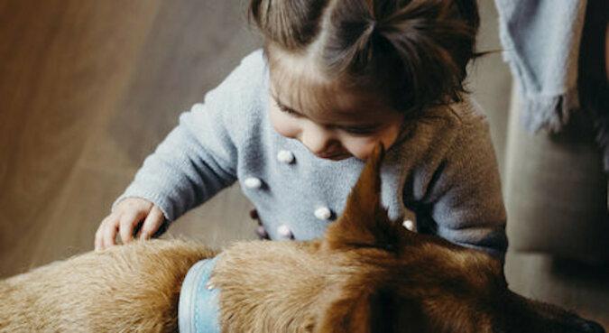 Nie ma barier dla uczuć: pies i dziewczyna zaprzyjaźnili się przez zamknięte drzwi
