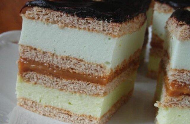 Ciasto 3 Bit. Popularne, smaczne ciasto bez pieczenia. Po prostu pychotka