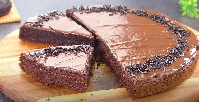 3 składniki i po 15 minutach, leniwe ciasto czekoladowe jest gotowe