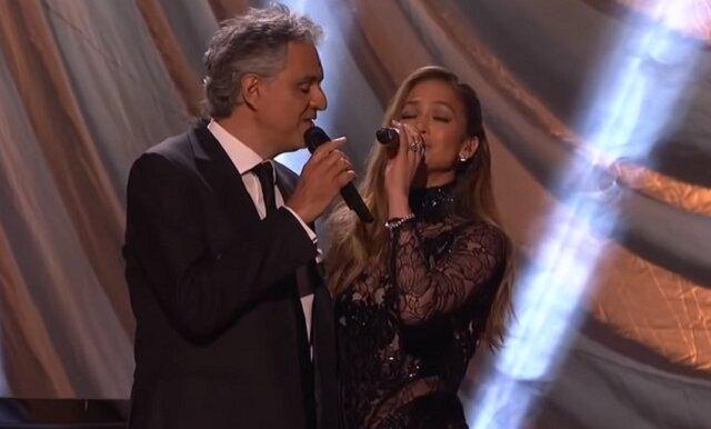 Fenomenalny duet Andrea Bocelli i Jennifer Lopez. Widzowie niemal popłakali się z zachwytu