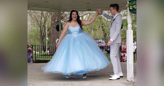 Nastolatka nie ma pieniędzy na wymarzoną sukienkę na bal maturalny. To co jej partner robi dla niej jest bezcenne