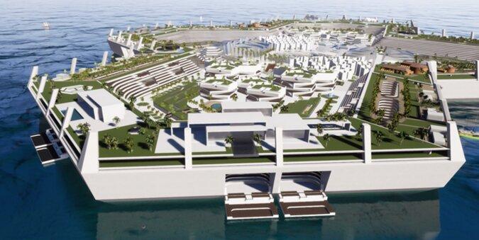"""Na Karaibach została stworzona pływająca wyspa Blue Estate - wolny od podatku """"pływający raj"""""""