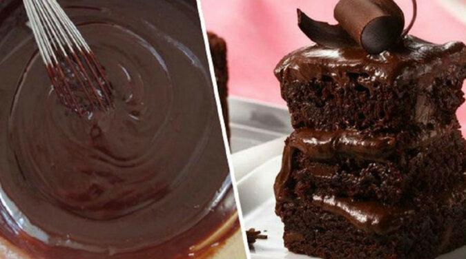 Ciasto czekoladowe na kefirze na szybko. Jest mega czekoladowe i pyszne