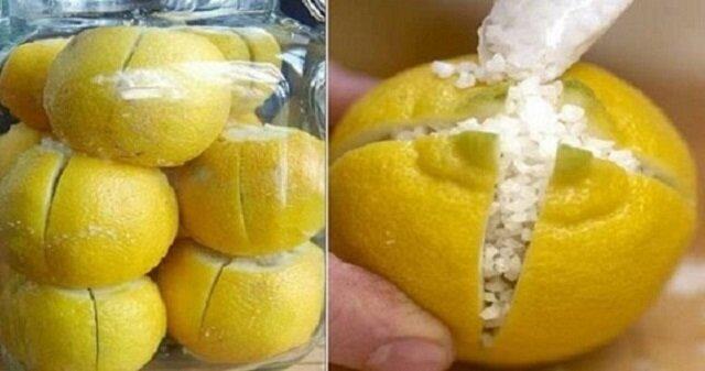 Nacięła cytryny i zasypała je solą. Gdy zobaczyłam po co zrobiłam to samo