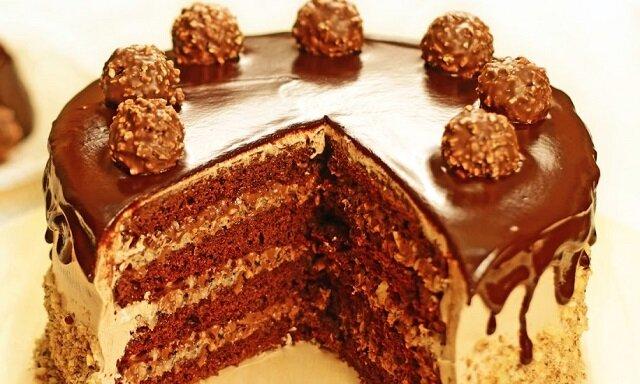 Ciasto Ferrero Rocher. Bez pieczenia