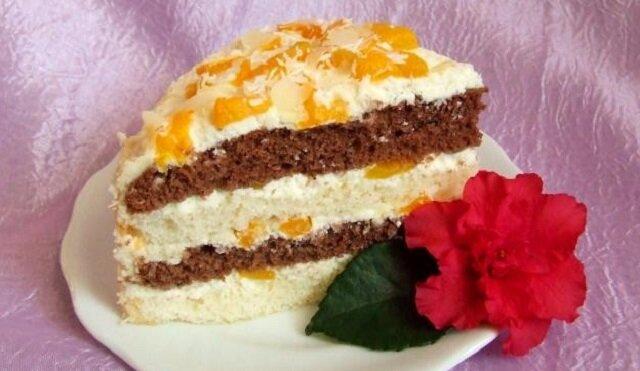 Upiekłam tort brzoskwiniowy z serkiem mascarpone. Ta słodka pychotka wyglądała i smakowała rewelacyjnie