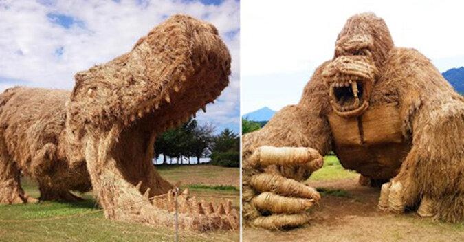 Wara Art: japońska sztuka tworzenia rzeźb ze słomy ryżowej