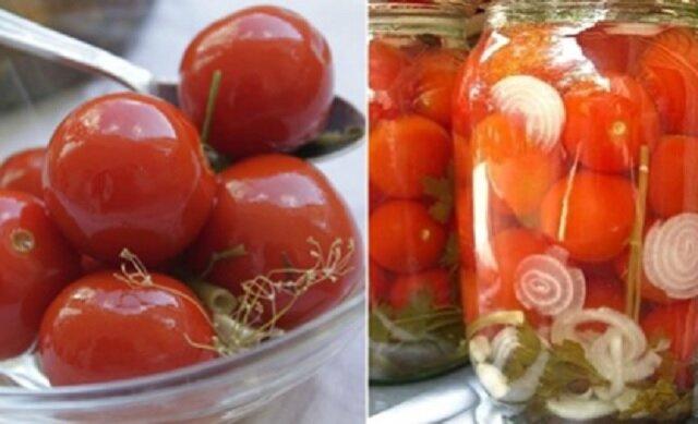 Przepis na pomidory z botwinką z marchewki