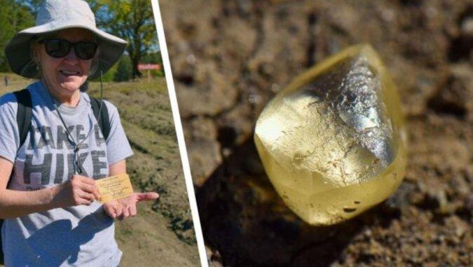Emerytka z Ameryki w ciągu godziny kopania w błocie znalazła największy diament