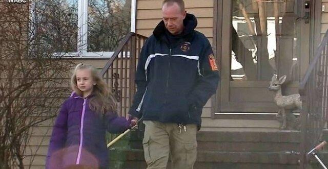 Sześcioletniej dziewczynce udało się uratować całą rodzinę z pożaru