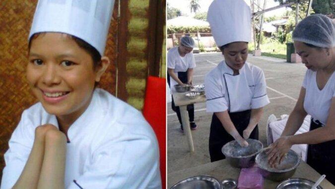 Dziewczyna, która straciła dłonie, stała się odnoszącą sukcesy kucharką. Pracuje bez protez