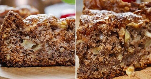 Ciasto z jabłkami i cynamonem w piekarniku