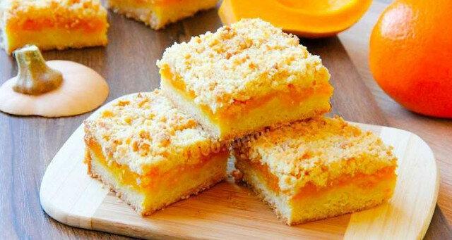 Ciasto z dynią i pomarańczą. Jest bardzo delikatne i przewiewne