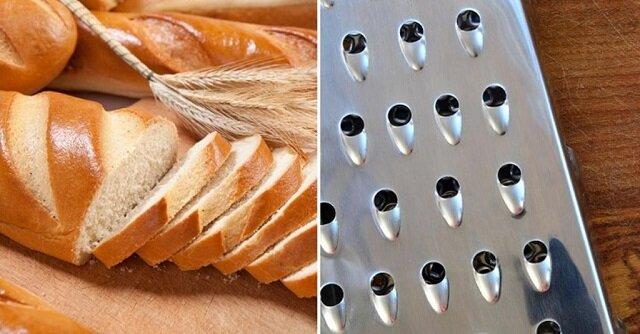 Zamrożony chleb trzeba zetrzeć na tarce, aby kurczak był przepyszny