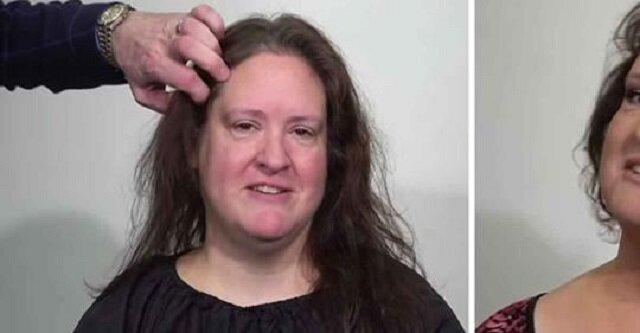Kobieta ma dość swoich cienkich włosów - spójrz na jej reakcję po transformacji