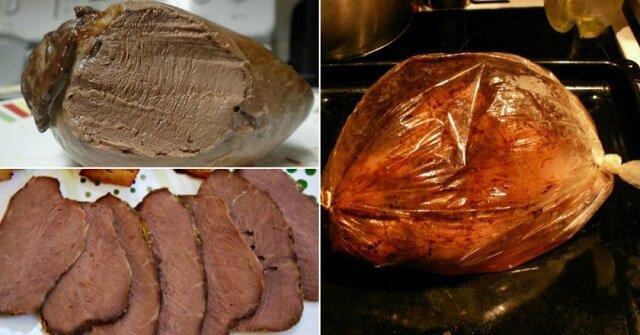 Serca wołowe pieczone w rękawie