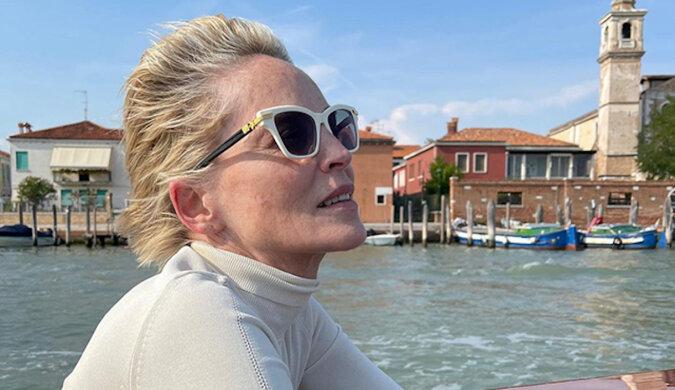 Sharon Stone podróżuje po Wenecji