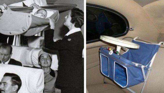 Dziwne kołysanki i brzydkie wózki dla dzieci z przeszłości