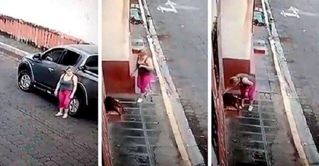 Kobieta ratuje porzuconego i rannego psa. Jej uczynek został nagrany na wideo