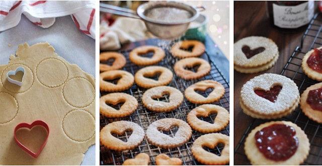 Linzer cookies - tradycyjne austriackie ciasteczka świąteczne