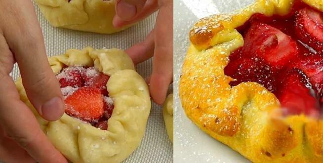 Podczas sezonu pieczę ten deser prawie codziennie. Bardzo smaczne i proste w przygotowaniu ciastka