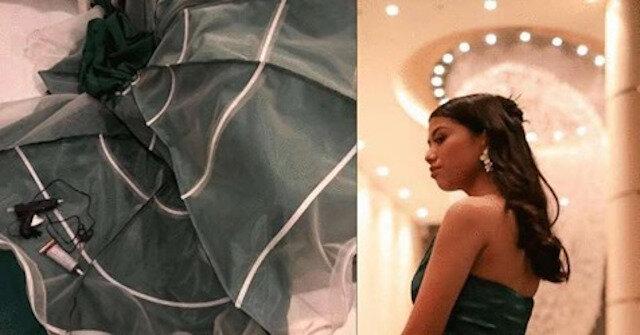 Młoda dziewczyna sama uszyła sukienkę na studniówkę i stała się sławna na całym świecie