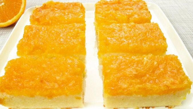 Delikatna zapiekanka z pomarańczą, bez mąki i jaj. Pachnąca i zdrowa