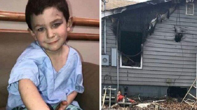 Pięcioletni chłopiec uratował swoją siostrę przed pożarem, a potem wrócił do domu, by uratować swego ukochanego psa