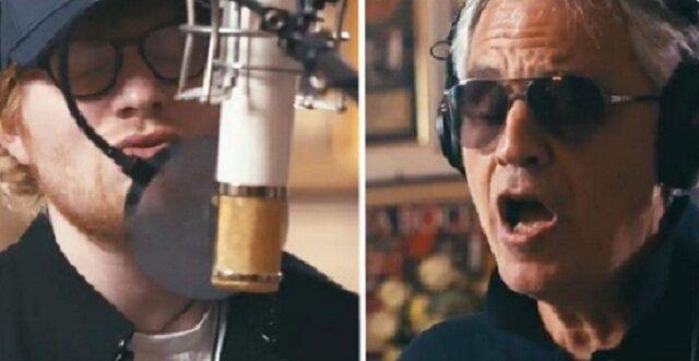 Dzieje się magia, gdy Ed Sheeran i Andrea Bocelli razem śpiewają