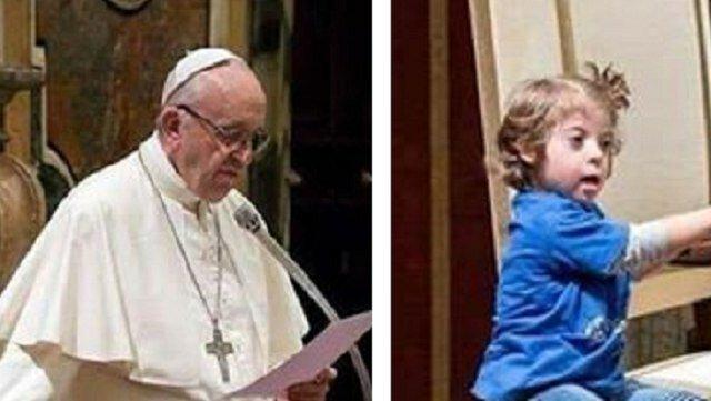 Podczas mszy dziewczynka z zespołem Downa podeszła prosto do papieża. Ta fotografia obiegła świat