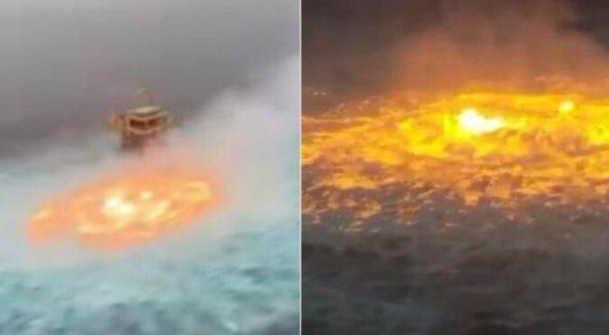 Wrze, płonie i wybucha: w Meksyku przez przypadek podpalono ocean