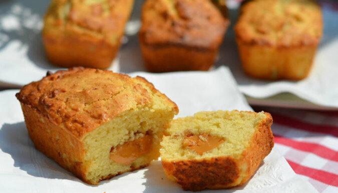 Muffinki twarogowe ze skondensowanym mlekiem